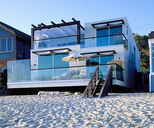 beach, house, and luxury image