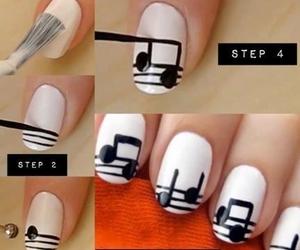 nails, music, and diy image
