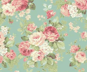 rose, vintage, and wallpaper image