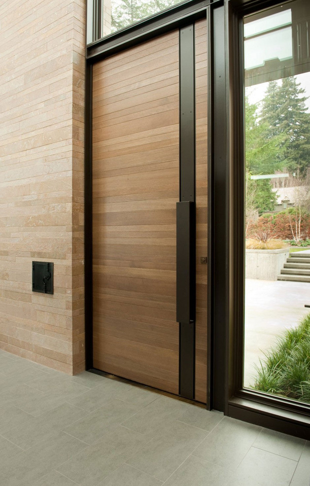 Modern Wooden Door Designs For Houses For Interior Wooden Doors Lowes Exterior Doors Wooden Entry Doors Home Depot Exterior Doors Alluring Wooden Door For Front House With Red Color And Stainless Steel Heavy duty tracks heavy duty hardware torsion spring setup. modern wooden door designs for houses