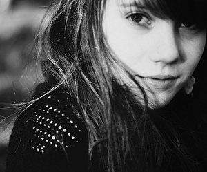 amazing, black and white, and hair image