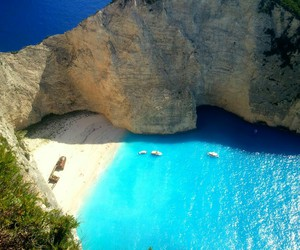 beach, beautiful, and Greece image