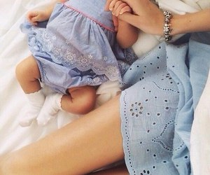 baby, blue, and dress image