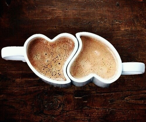 amore, caffe, and heart image