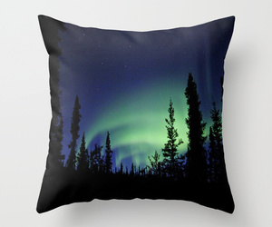 art, aurora borealis, and bed image