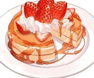 food, strawberry, and anime image