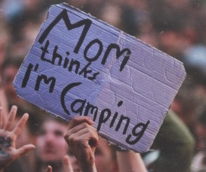 camping, concert, and like image