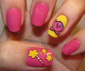 nails, kirby, and nail art image
