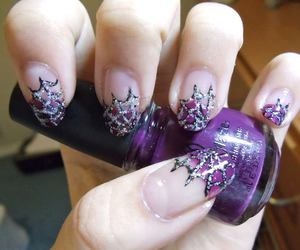 nails, Halloween, and purple image