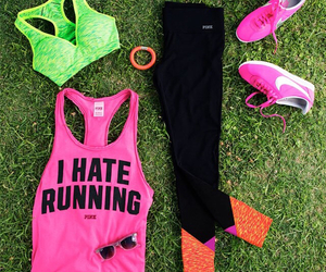 fitness, pink, and sport image