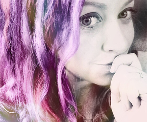colourful, hair, and purple image