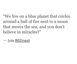 quotes, miracle, and moon image
