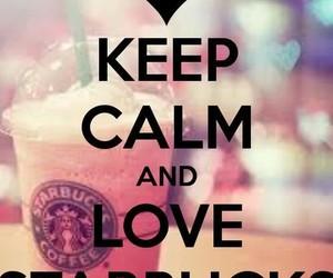 starbucks and keep calm image