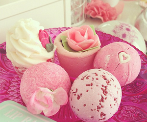 pink, lush, and bath image