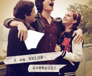 emma watson, logan lerman, and charlie image