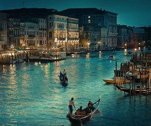 boats, italy, and venice image