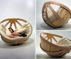 chair, bed, and cool image
