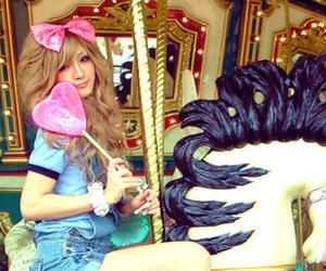 carousel and girl image