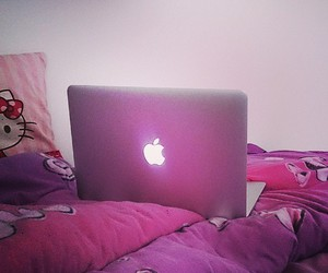 air, apple, and bed image