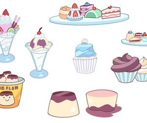 cake, food, and ice cream image