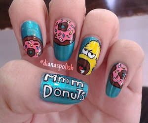 nails, simpsons, and sweet image