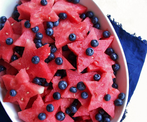 watermelon, blueberry, and food image