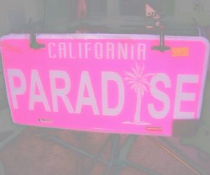 california, paradise, and pink image