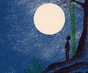 moon, art, and illustration image