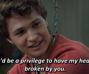 movie, movie line, and ansel elgort image