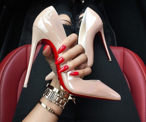 nails, shoes, and red image