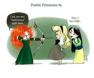 disney, mulan, and pocket princesses image