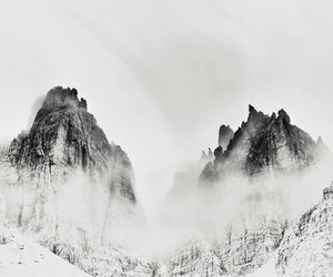 mountains, snow, and white image