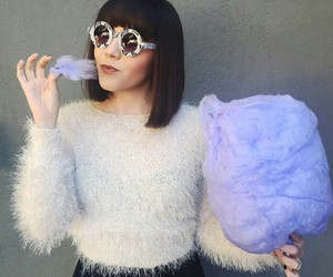 candy, clothes, and glasses image