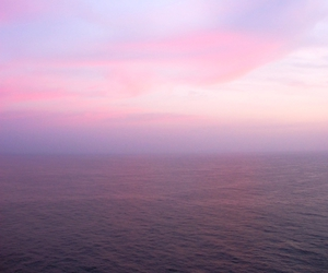 sky, sea, and pink image