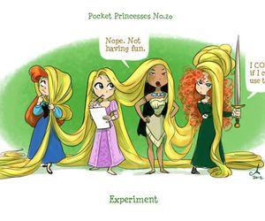 disney, princess, and pocket princesses image