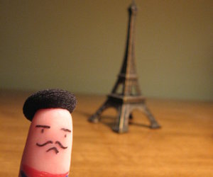 french, funny, and moustache image