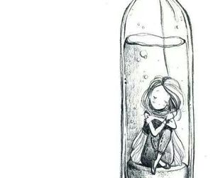 girl, art, and bottle image