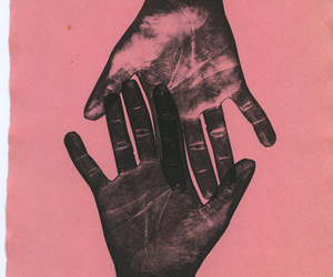 pink, hands, and art image