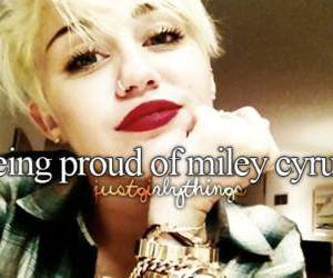 miley cyrus, proud, and cyrus image
