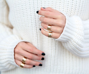 nails, rings, and white image