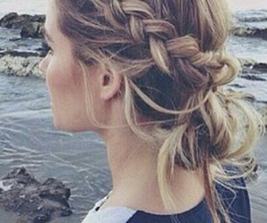 chignon, hair, and natte image