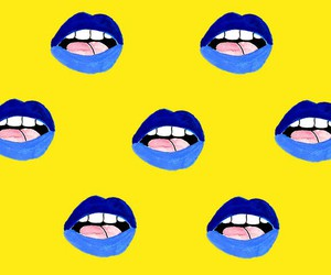 background, blue, and lips image