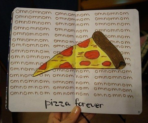 forever, omnomnom, and pizza image