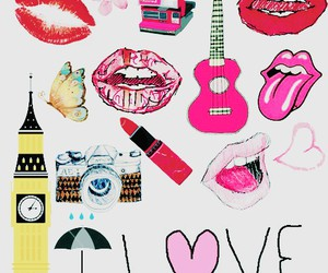 lips, love, and background image