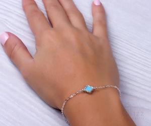 Mimas, clover bracelet, and good luck bracelet image