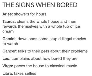 the signs when bored uploaded by livy everdeen