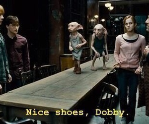harry potter, dobby, and shoes image