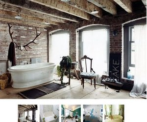 antlers, bathroom, and interior design image