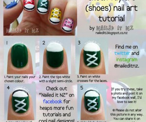 converse, nails, and tutorial image