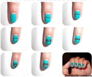 nail, tutorial, and deamonds image